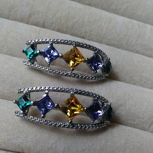 Multi color Crystal earrings.